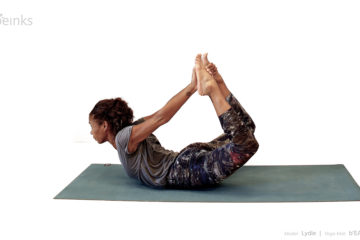 bow pose side - lydie