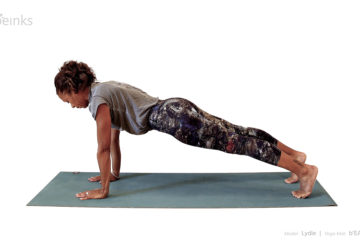 plank pose - front - lydie